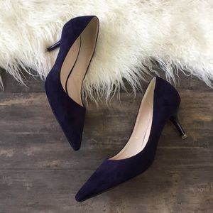 Shoes - Purple Suede Leather Red Bottom Pumps 7